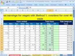 excel busn math 38 gross pay and overtime 5 examples youtube