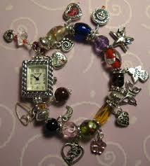 bracelet watches with charms images Hearts and love watch charm bracelet jewelry making ideas beadage jpg