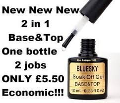bluesky base u0026top 2 in 1 top coat base coat new gel nail polish