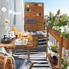 balkon bank sichtschutz bank akazie fsc 80x44x170 cm natur depot at