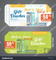 green gift voucher vector illustration blank back school gift voucher vector stock vector 2018 463708733