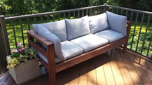 Expanded Metal Patio Furniture - amazing outdoor sectional diy 2x4 stained wood simple nice