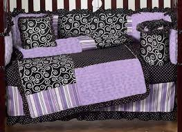 Boutique Crib Bedding Purple And Black Boutique Baby Bedding 9 Pc Crib Set