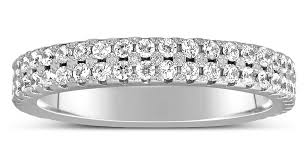 Diamond Wedding Rings For Women by 1 Carat 2 Row Diamond Wedding Ring Band In White Gold For Women