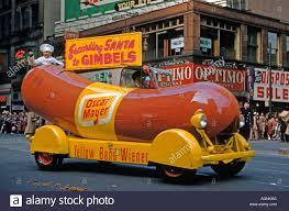 car in philadelphia thanksgiving day parade usa 1951 stock
