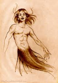 merman sketch aeryael deviantart