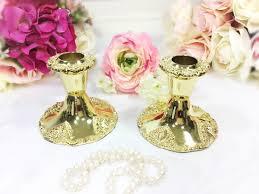 exquisite godinger gold baroque ornate candlesticks set of 2