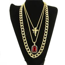 hip hop necklace pendants images Golden bling rhinestone miami cuban stone angel necklaces pendants jpg