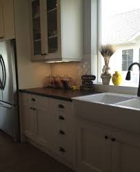 Oil Bronze Faucet White Cabinets Farmhouse Sink Oil Rubbed Bronze Hardware And
