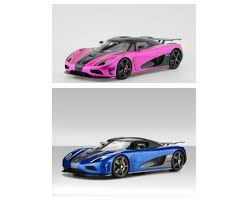 koenigsegg purple agera hh blue flash pink limited 300 pcs by frontiart