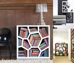 Small Open Bookcase Creative Bookshelf Design Made From Wooden Material With Reading