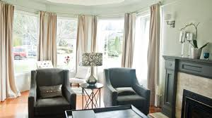 Window Covering Ideas For Large Picture Windows Decorating Decor Pretty Dining Room Bay Window Treatments Curtains For Bay