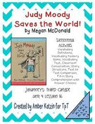 judy moody supplemental activities 3rd grade journeys unit 4