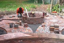 Brick Firepit Brick Pit Designs Pit Design Ideas