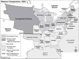 United States Map Missouri by Compromise 1819 1821