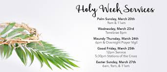 holy week services apostles anglican church
