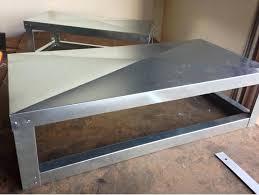 sheet metal coffee table sheet metal coffee table coffee table sets walmart fieldofscreams
