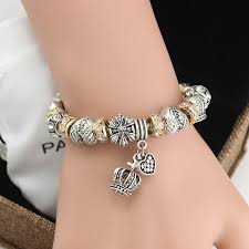 european bead charm bracelet images 2016 new design gold crystal beads crown charm bracelet silver jpeg