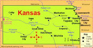 usa map kansas state kansas facts map and state symbols enchantedlearning