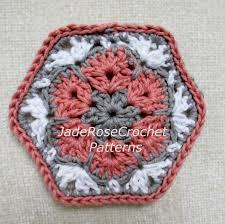 crochet hexagon pattern crochet african flower pattern
