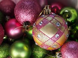 pink and green ornaments royalty free stock photos