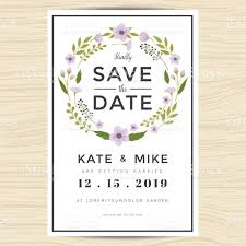 Free Wedding Invitation Card Template Save The Date Wedding Invitation Card Template With Wreath Flower
