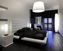 zen asian bedroom in black and white style with black sheet on design masculine black and white bedroom with tufty upholstered headboard and drum shade lamp
