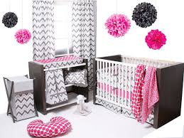 Pink Chevron Crib Bedding Bacati Ikat Pink Grey 4 Crib Set With 2 Muslin Blankets
