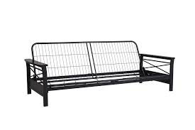 dhp furniture dhp nadine metal futon frame with espresso wood