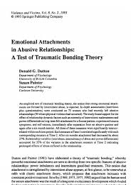 dutton painter emotional attachments in abusive relationships a