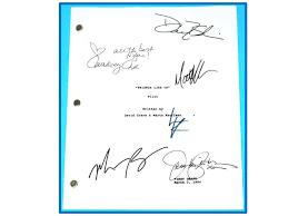 Seeking Pilot Script Friends Tv Pilot Script Autographed Signed Aniston David