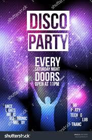 disco party flyer template vector illustration stock vector