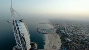 fly over burj al arab hotel in dubai uae burj al arab is a