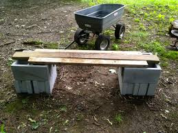 furniture cinder block bench uses for cinder blocks cement