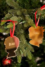 personalized vintage silhouette acrylic ornament