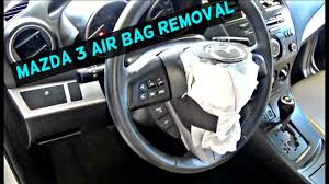 mazda steering wheel mazda 3 driver steering wheel airbag air bag removal replacement