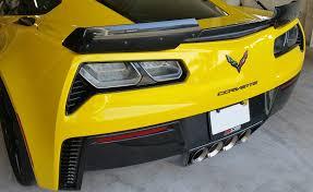 corvette wing c7 corvette z06 2015 gm stage 2 3 wickerbill rear spoiler wing