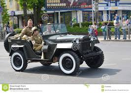 gaz 67 kaliningrad rosja maj 09 2015 samochód gaz 67 fotografia