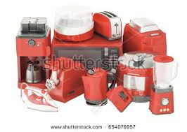 Silver Toaster And Kettle Set Silver Toaster 3d Rendering Isolated On Stock Illustration