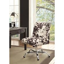 linon home decor draper udder madness microfiber office chair