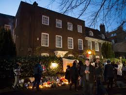 george michael house mourners gather at george michael s house in highgate london itv