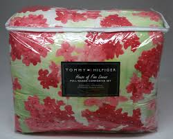 tommy hilfiger cape cod pink multi comforter set full queen