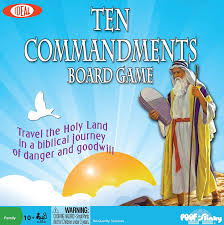 amazon com ideal ten commandments board game toys u0026 games