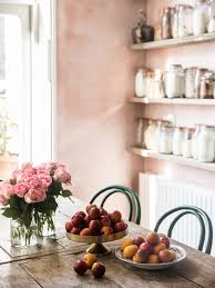 Coco Kelley Room Of The Week Pink Plaster Walls In A Farmhouse Kitchen