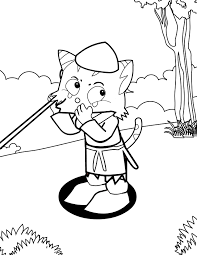 boy who cried wolf coloring page handipoints