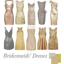 metallic gold bridesmaid dresses bridesmaids dresses metallic polyvore