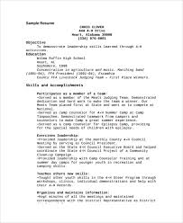 Sample Counselor Resume by Day Camp Director Cover Letter