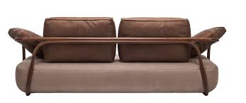 Thonet Sofa Contemporary Sofa Leather Solid Wood Bentwood 2000 Thonet