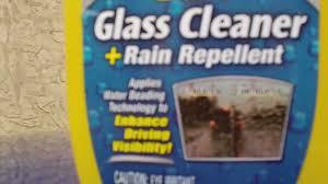 best window cleaner spray review rain x glass cleaner rain repellent youtube