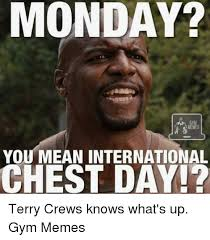 What S Meme Mean - monday you mean international chest day terry crews knows what s